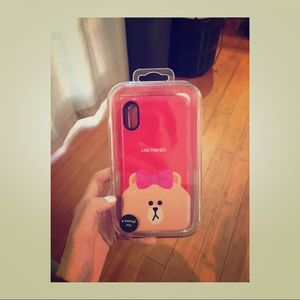 100% Line Friends iPhone X cellphone case